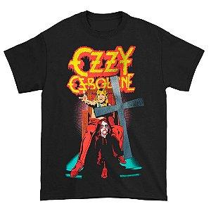 Camiseta Básica Lendas Do Rock Cantor Ozzy Osborne Speak Of The Devil