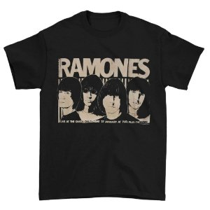 Camiseta Básica Banda Rock Ramones Odeon