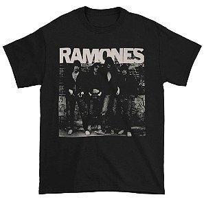 Camiseta Básica Banda Rock Ramones 1st Album