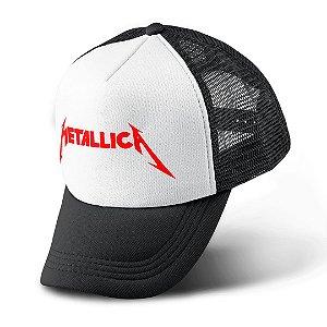 Boné Trucker Com Telinha Banda heavy Metal Metallica