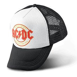 Boné Trucker Com Telinha Banda Rock AC/DC
