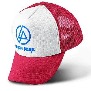 Boné Trucker Com Telinha Banda Rock Linkin Park