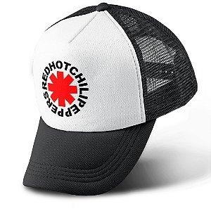 Boné Trucker Com Telinha Banda Rock Red Hot Chilli Peppers