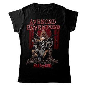 Camiseta Feminina Baby Look Banda Heavy Metal Avenged Sevenfold Skull