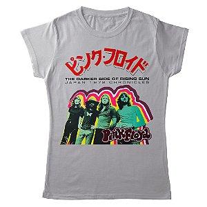 Camiseta Feminina Baby Look Banda Rock Pink Floyd Japanese Poster