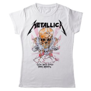Camiseta Feminina Baby Look Banda Heavy Metal Metallica Their Appetite
