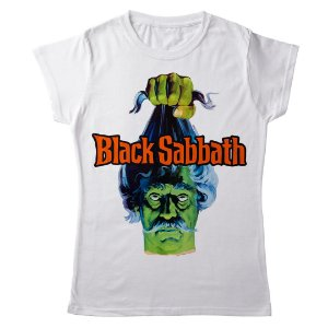 Camiseta Feminina Baby Look Banda Heavy Metal Black Sabbath