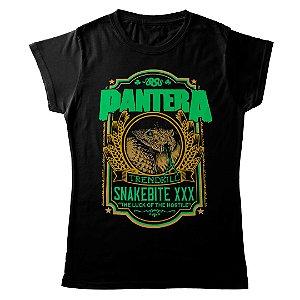 Camiseta Feminina Baby Look Banda Pantera Thrash Metal Snakebite XXX