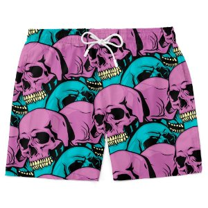 Bermuda Short Praia Skull Purple