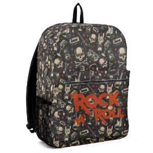 Mochila Bolsa Escolar Let's Rock