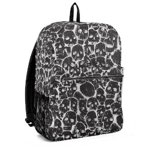 Mochila Bolsa Rock Caveira Black And White