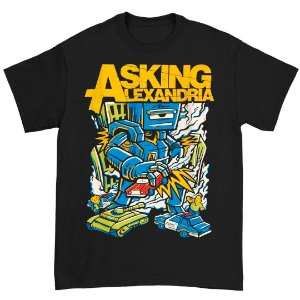 Camiseta Básica Banda Post-hardcore Asking Alexandria Killer Robot