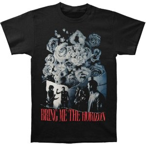 Camiseta Básica Banda Post-Hardcore Bring Me The Horizon Flowers Slim