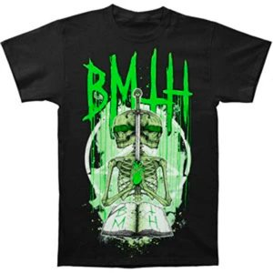 Camiseta Básica Banda Post-Hardcore Bring Me The Horizon Skull