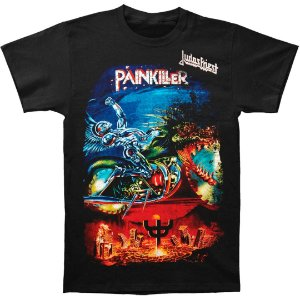 Camiseta Básica Banda Heavy Metal Judas Priest Painkiller