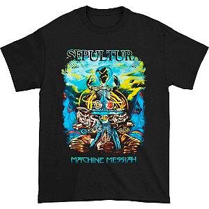 Camiseta Básica Banda Heavy Metal Sepultura Machine Messiah