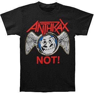Camiseta Básica Banda Heavy Metal Anthrax Not Wings