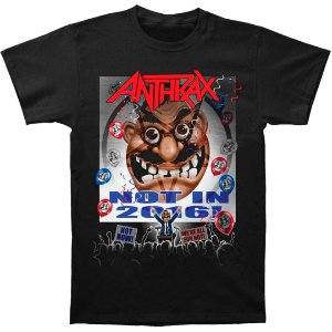 Camiseta Básica Banda Heavy Metal Anthrax Election