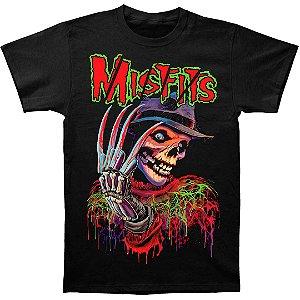 Camiseta Básica Banda Heavy Metal Misfits Freddy