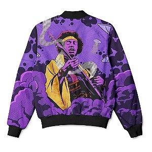 Jaqueta Bomber com Bolsos Lenda Do Rock Jimi Hendrix
