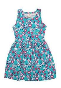 vestido estampa azul infantil