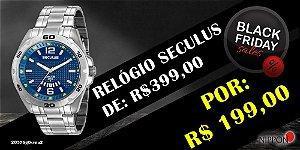 Relógio Seculus Masculino 20576g0svna2