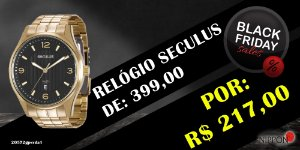 Relógio Seculus Masculino Long Life 20572gpsvda1