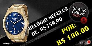 Relógio Seculus Masculino Long Life 28925gpsvda2
