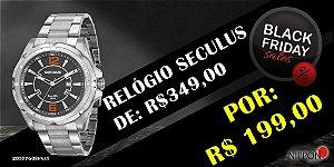 Relógio Seculus Masculino Ref: 20577g0svna1 Casual Prateado
