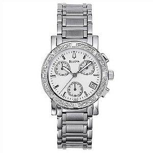 Relógio Bulova Diamond Cronógrafo Feminino Wb30588q