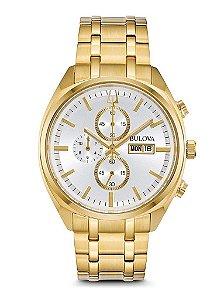 Relógio Bulova Masculino Dourado 97C109