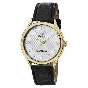 Relógio Champion Feminino Couro Preto CH22706M