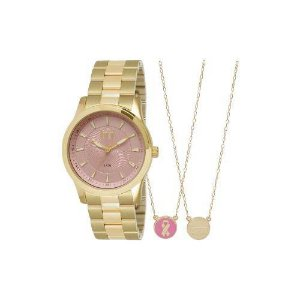 Relógio Dumont Feminino Ref: Du2036lrv/K4q - Kit