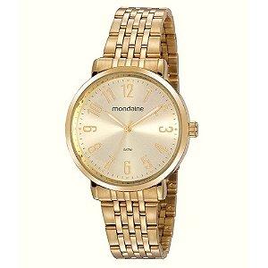 Relógio Feminino Dourado Mondaine - 32107LPMVDE1 -