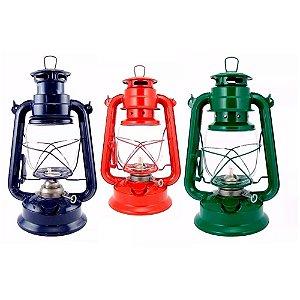Lampião Querosene Western 23cm - 27cm - 29cm cores vareadas