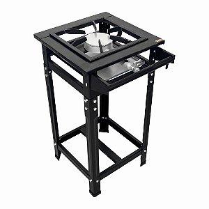 Fogão Industrial Classic 30x30 Perfil 7cm 1 Boca Baixa Pressão Simples com Pé
