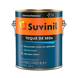 Tinta Acrílica Acetinado Toque de Seda Premium Branco 3,6L Suvinil