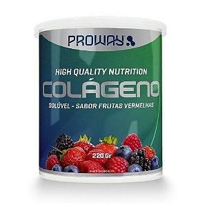 Colágeno em Pó com Vitamina C  220 GR sabor Frutas Vermelhas