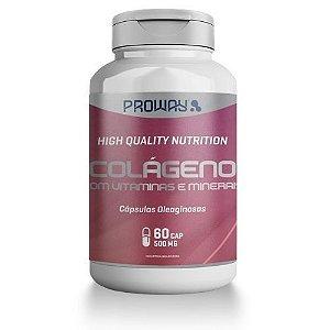 Colágeno com Vitaminas e Minerais  60 Caps - 500mg