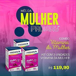 Combo Suplemento Vitamínico Mulher 60caps 500mg