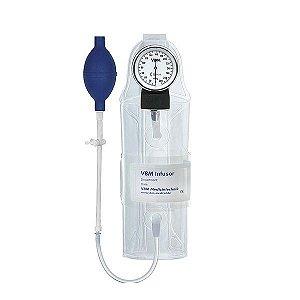Bolsa Pressurizadora Transparente 1000ml com Pêra e Manômetro simples