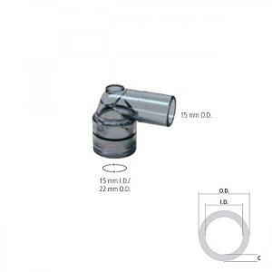 Conector Angulado I.D. 15mm / O.D. 22mm e O.D. 15 mm