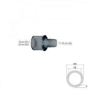 Conector Reto I.D. 15 mm / O.D. 22 mm e O.D. 11 -13 mm
