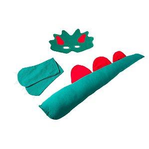 Fantasia Infantil - Dinossauro Verde Kit Completo