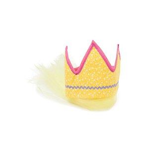 Fantasias Infantis - Coroa Amarela com Véu