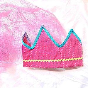 Fantasias Infantis - Coroa Pink com Véu