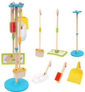 Conjunto de Limpeza - Brinquedo Educativo de Madeira