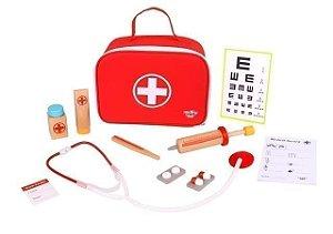 Maleta de Médico - Brinquedo Educativo de Madeira
