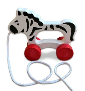 Brinquedo de Puxar de Madeira - Zebra Baby