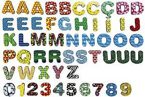 Imãs - Letras e Números 3cm